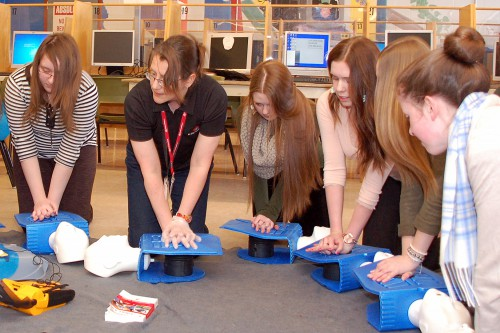 Students from O'Donel High School in Mount Pearl receive First-Aid training
